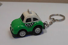 VW Green/White Taxi Beetle Keyring