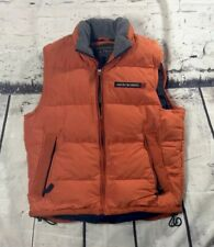 Abercrombie And Fitch Orange  Goose Down Vest Mens Full Zip Puffer Ski Small