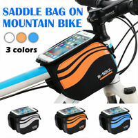 Cycling Mountain Bike Bicycle Frame Front Tube Bag Phone Holder Case Pouch-