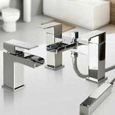 Bathroom Taps Chrome Basin Mixer Bath Filler Shower Deck Waterfall Tap Sets