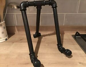Industrial Cast Iron Pipe Kitchen Cook Book Stand Recipe Card /Tablet Holder