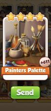 X 25 Painters Palette Cards from Artists Set Coin Master Card ( Fast Send )