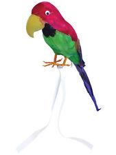 RIPIENO PIUMA pappagallo su spalla pirata HAWAIANO COSTUME CAPITANO accessorio