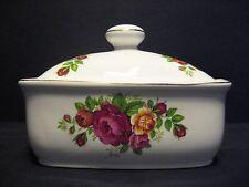 Cottage rose English Fine Bone China butter dish Gold Rim By Milton China