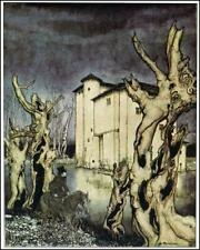 Edgar Allen Poe Fall of The House of Usher 1935 by Arthur Rackham 6x5 Inch Print
