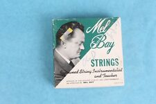 VTG SET OF 4 1950's MEL BAY FLAT WOUND LIGHT GUAGE GUITAR STRINGS  UNUSED IN BOX