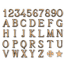 Lettere in bronzo per lapidi - Romano lucido