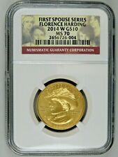 2014 W Florence Harding First Spouse 1/2 oz Gold $10 NGC MS70 BU