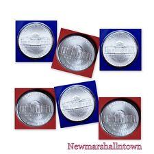 2011 2012 2013 P+D Jefferson Nickel Set ~ P+D Coins in Original Mint Wrappers