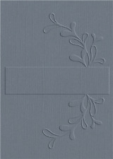 Lifestyle Crafts QuicKutz A2 Embossing Folder VINE LABEL Title, Name  EF-A2-015