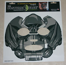 Transformer Iron Hide Temporary Face tattoo-costume-Halloween Mask-BumbleBee Avl