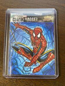 2021 UD Marvel CLOAK & DAGGER Spider-Man Sketch Sherwin Santiago
