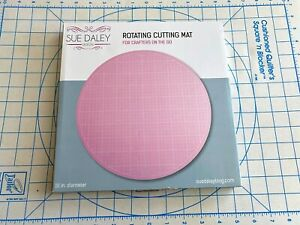 "Pink Crafters Dream Rotating Cutting Mat Round 14/"" inches Colour"