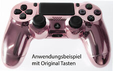 Neu Playstation PS4 Controller Case Hülle Gehäuse Chrome Modding Cover Pink