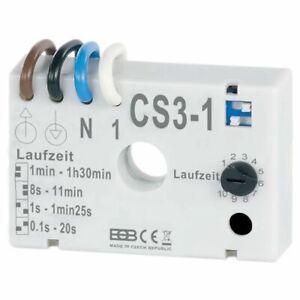 Zeitschalter CS3-1 Nachlaufrelais Unterputz z.B. zu Ventilatoren in Badezimmer