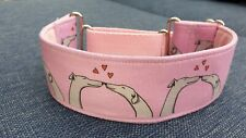 Pink kissing hounds Design 50mm reduced martingale collar