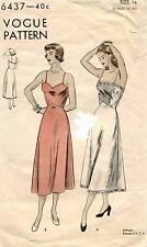 1940's VTG VOGUE Misses' Slip  Pattern 6437  14