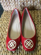 (191) Red Flat Shoes Size 5 From M & Co In Great Condition