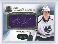 2013-14 UD THE CUP RC SCRIPTED SWATCHES PATCH AUTO TYLER TOFFOLI /35 KINGS