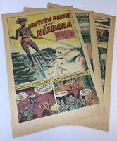 1965 five page cartoon story ~ CHARLES BLONDIN ~ Niagara Falls highwire artist