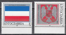 Jugoslawien / Jugoslavija 2696-2697** Flagge und Wappen