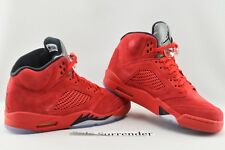 Air Jordan 5 Retro - SIZE 9.5 - 136027-602 University Red Black Suede V Silver