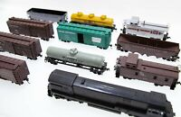 [Lot of 15] Vintage Athearn Locomotive 3433 U28C, Freight, Stock Cars with Boxes