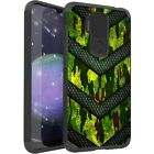 MetKase Hybrid Slim Phone Case Cover For Cricket Influence - GREEN CAMO BADGE