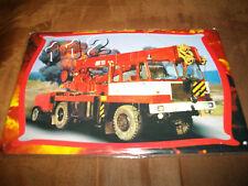 Blechschild Feuerwehr DDR Kran ADK 125 ca. 20x 30 cm gross