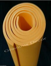 Indoor Outdoor Exercise Yoga Mat Pilates Mat Thick NonSlip Orange good for knees