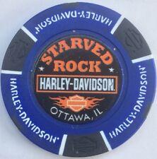 115 ANNIVERSARY OTTAWA, IL STARVED ROCK HARLEY DAVIDSON POKER CHIP (B/B)