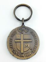 Papal Visit Canada 1984 Official Marks Concacan Inc Medal Key Chain I741