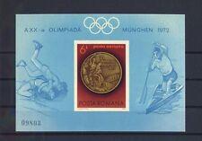 TOP RUMÄNIEN 1972, MiNr. Block 100, **, postfrisch, LUXUS, Olympia, E10