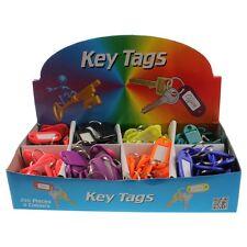 10 Key Tags Plastic Key Rings ID Tags Name Label Key Fob Tag Choose your Colours