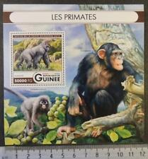 Guinea 2016 primate chimpanzee gorilla apes mammals s/sheet mnh