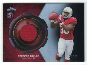 2013 STEPFAN TAYLOR TOPPS CHROME ROOKIE RELIC BLACK REFRACTOR JERSEY #23/25