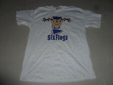 NEW W TAG SIX FLAGS POPPING TAZ SOUVENIR SHIRT WHITE SIZE L LOONEY TOONS VINTAGE