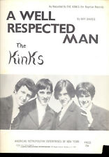 "THE KINKS Sheet Music ""A Well Respected Man"" 1965"