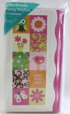 6PK MONEY HOLDER JUST FOR YOU GREETING CARDS ENVELOPES WALLETS BIRTHDAY EVERYDAY