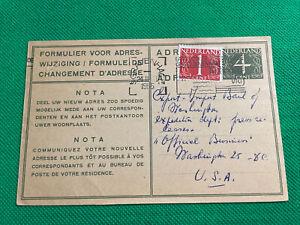 Netherlands Postal Card To 'office Of Business' Washington DC, USA, #282, 1955