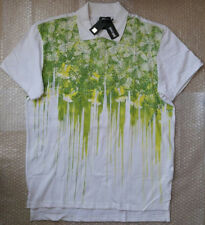 Just Cavalli men's Polo t-shirt white and green pattern size XL (52)