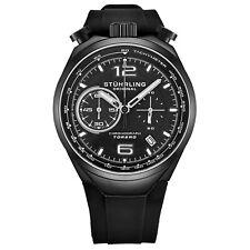 Stuhrling 894.03  VK Men's Japan Chronograph Rubber Strap Bullhorn Pusher Watch