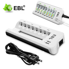 Battery Charger with Dual USB Port For AA AAA NI-MH NI-CD Rechargeable Batteries