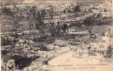 GUERRE 14-18 WW1 SOMME MONTDIDIER 3106 vue d'ensemble BRITSH SUB timbrée 1928