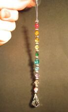 New listing Light Catcher Sun Catcher Suncatcher Chakra Rainbow Color Beads Faceted Crystal