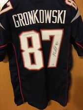 Rob Gronkowski New England Patriots Autographed Custom Home Jersey W/ GA COA