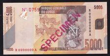 CONGO ------ 5000  FRANCS  2005 ----- SPECIMEN ---- UNC ----