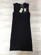 Stella McCartney robe noire taille 42 UK10 RRP £ 950 Nouveau LBD Texturé Cocktail
