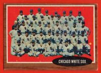 1962 Topps #113 White Sox Team EX Minnie Minoso Early Wynn Chicago FREE SHIPPING