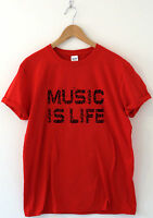 Music is life awesome festival t shirt concert tee band artist top rock dance